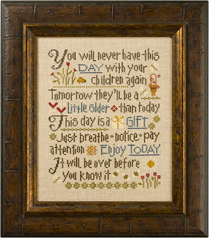 Lizzie Kate - Let Them Be Small - Cross Stitch Pattern-Lizzie Kate, Let Them Be Small, children, mother's love, sayings, kids playing, Cross Stitch Pattern