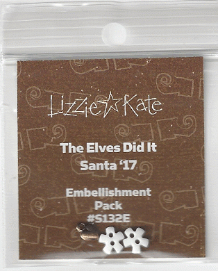 Lizzie Kate - 2017 Santa - The Elves Did It Embellishment Pack-Lizzie Kate - 2017 Santa - The Elves Did It Embellishment Pack , Santa Claus, Christmas, Cross stitch