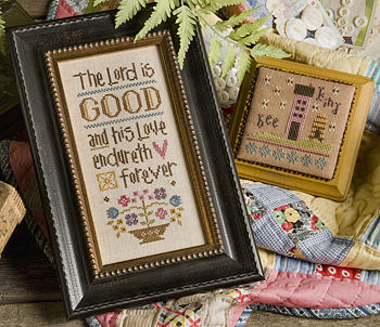 Lizzie Kate - Inspiration Boxer - The Lord is Good - Cross Stitch Kit-Lizzie Kate, Inspirational Boxer, The Lord is Good, bible verses, Psalm 1005, Old testament, bee kind, bees, bee hive, house, Cross Stitch Kit