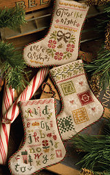 Lizzie Kate - Flora McSample 2013 Stockings - Cross Stitch Patterns-Lizzie Kate, Flora McSample, 2013 Stockings, Christmas, gifts, Cross Stitch Patterns