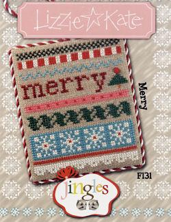 Lizzie Kate - Jingles - Part 06 of 12 - Merry - Cross Stitch Pattern