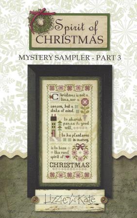 Lizzie Kate - Spirit of Christmas Mystery Sampler - Part 3-Lizzie Kate - Spirit of Christmas Mystery Sampler - Part 3, Christmas, cross stitch