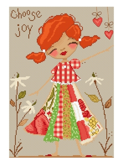 Lena Lawson Needlearts - Sweet Thoughts - Choose Joy - Cross Stitch Chart