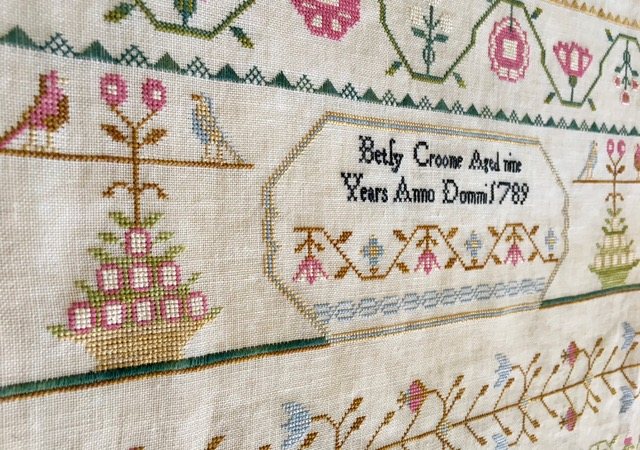 Lindsay Lane Designs - Betsy Croome 1789-Lindsay Lane Designs - Betsy Croome 1789, sampler, historic, alphabets,