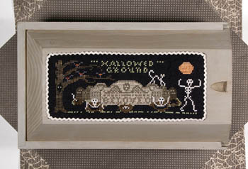 Lone Elm Lane - Hallowed Ground-Lone Elm Lane - Hallowed Ground, Halloween, skeleton, cross stitch