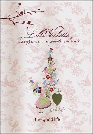 Lilli Violette - The Good Life - Cross Stitch Pattern-Lilli Violette, The Good Life, girl, flowers, Cross Stitch Pattern