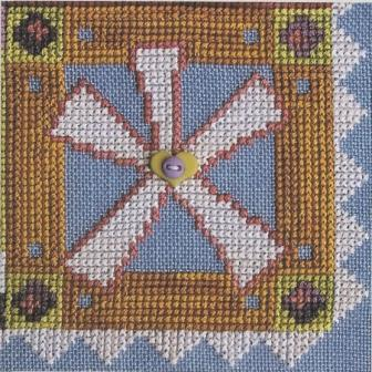 SamSarah Design Studio - Daily Life - Pearl 12 of 12 - Make Exceptions! - Cross  Stitch Pattern-SamSarah Design Studio, Daily Life, Pearl 12 of 12, Make Exceptions!, p064, life, flowers, 30 ct blue jeans linen, Cross Stitch Pattern,