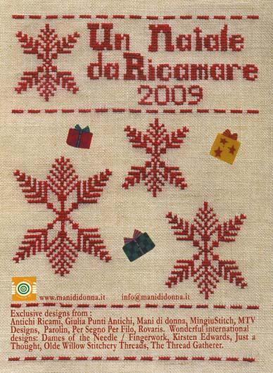 Mani di Donna - Un Natale da Ricamare 2009 - Cross Stitch Book-Mani di donna, Un Natale da Ricamare 2009, Christmas ornaments, Cross Stitch Book, patterns