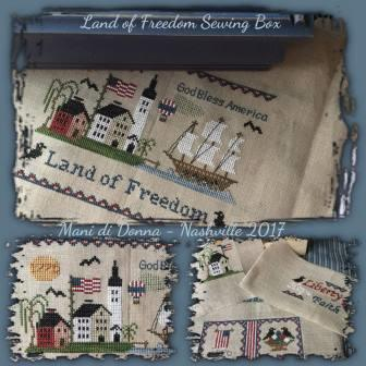 Mani di Donna - Land of Freedom Sewing Box-Mani di Donna - Land of Freedom Sewing Box, USA, America, Free