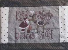 Madame Chantilly - Kiss!-Madame Chantilly, Kiss,Santa Claus, Rudolph, Christmas Eve, gifts,  Cross Stitch Pattern