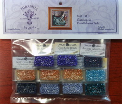 Mill Hill - Cassiopeia Embellishment Pack-Mill Hill, Beach Cottage Stitchers, Mirabilia Cassiopeia, Embellishment Pack, beads, MD131E,