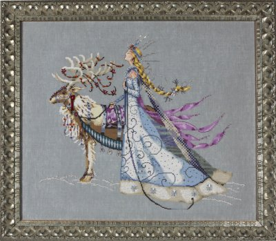 Mirabilia Designs - The Snow Queen-Mirabilia Designs, The Snow Queen, winter, reindeer, queen, forest, cross stitch