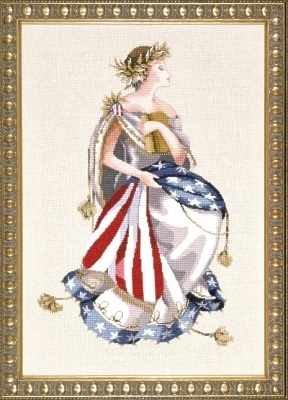 Mirabilia Designs - Queen of Freedom-Mirabilia Designs - Queen of Freedom, American Flag, Statue of Liberty, Mill Hill beads, America, USA, patriotic, cross stitch