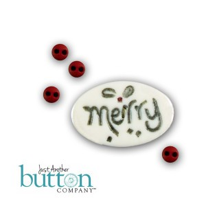 #10127 Just Another Button Company - merry.berry buttons-Just Another Button Company - merry.berry buttons, square.ology, ornaments, clay buttons, Christmas, cross stitch