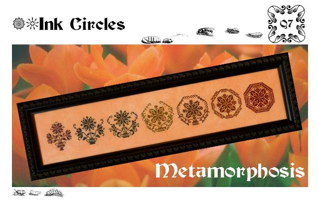 Ink Circles - Metamorphosis-Ink Circles - Metamorphosis, Cross Stitch Pattern, geometrical,