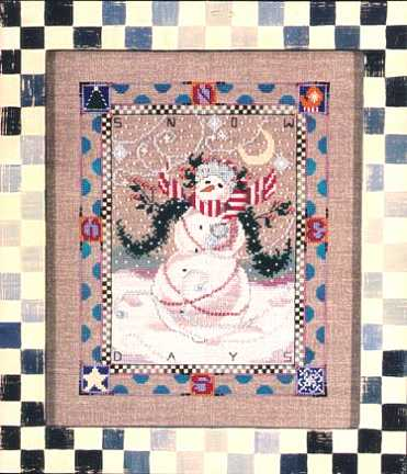 Mirabilia Designs - Snow Days-Mirabilia - Snow Days - Cross Stitch Pattern, snowman, winter,