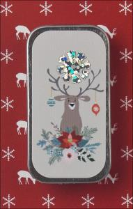 Just Nan - Needle Slide Mini - Happy Holly Deer-Just Nan - Needle Slide Mini - Happy Holly Deer , needles, magnet, cross stitch, accessories,