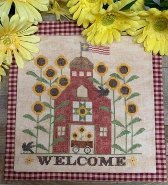 Needle Bling Designs - Sunflower Barn-Needle Bling Designs - Sunflower Barn, farming, flowers, spring, tractor, cross stitch