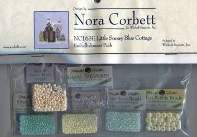 Mill Hill - Nora Corbett - Little Snowy Blue Cottage Embellishment Pack-Mill Hill - Nora Corbett - Little Snowy Blue Cottage Embellishment Pack