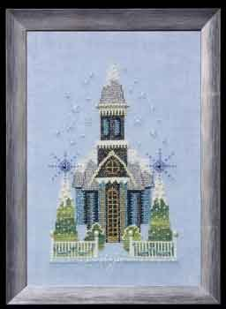 Nora Corbett - Snow Globe Village Series - Little Snowy Blue Church