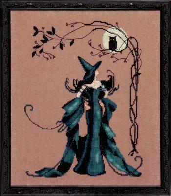 Nora Corbett - Bewitching Pixies - Minerva-Nora Corbett - Bewitching Pixies - Minerva, Halloween, fairy, witch, bats, cross stitch