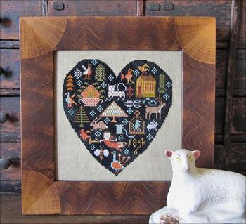 Kathy Barrick - Black Heart - Cross Stitch Pattern