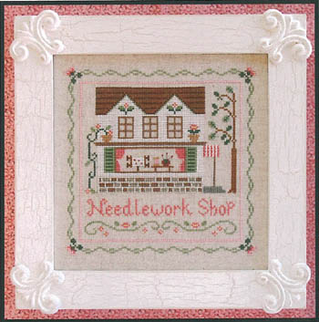 Country Cottage Needleworks - The Needlework Shop-Country Cottage Needleworks - The Needlework Shop  cross Stitch, Pattern,store, needles, yarn tree, flowers, brick, stretcher frame,