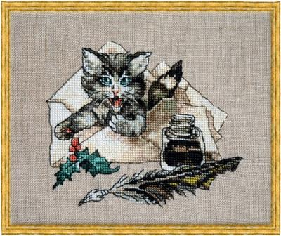 Nimue - Chat Va?-Nimue - Chat Va, mail, cat, kitty, cross stitch