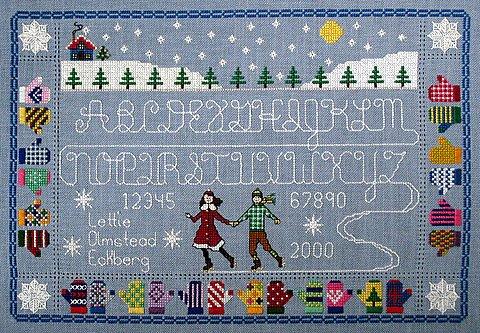 The Needle's Notion - Alphabet on Ice-The Needles Notion, Alphabet on Ice, Cross Stitch Pattern