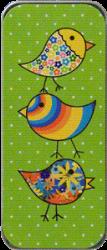 Just Nan - Needle Slide - Green Flirty Birds-Just Nan - Needle Slide - Green Flirty Birds, pins, storage, magnet, cross stitch, accessories,