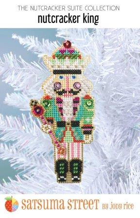 Satsuma Street - Nutcracker Suite - Nutcracker King Ornament Kit-Satsuma Street - Nutcracker Suite - Nutcracker King Ornament Kit, Christmas, play, ornament, beading, cross stitch