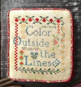 NeedleWorkPress - Color Outside the Lines-NeedleWorkPress - Color Outside the Lines, free spirit, coloring, personal style, cross stitch