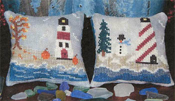Of Generations Past  - Fall & Winter Lighthouses - Cross Stitch Patterns-Of Generations Past  - Fall & Winter Lighthouses - Cross Stitch Patterns