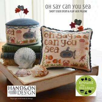 Hands On Design - Around the Holidays - Oh Say Can You Sea-Hands On Design - Around the Holidays Collection - Oh Say Can You Sea, submarine, whale, ocean fish cross stitch
