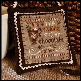 Little House Needleworks - Ornament of the Month 2012 - No. 07 - Hot Cocoa-Little House Needleworks - Ornament of the Month 2012 - No. 07 - Hot Cocoa - Cross Stitch Pattern