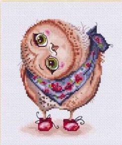 Lena Lawson Needlearts - Precious Owlets - Owlet Matilta - Cross Stitch Pattern-Lena Lawson Needlearts,  Precious Owlets, Owlet Matilta, owls, flowers, Cross Stitch Pattern