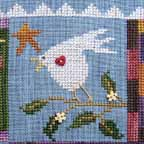 SamSarah Design Studio - Daily Life - Pearl 02 of 12 - Tweet Your Song! - Cross Stitch Pattern-SamSarah Design Studio - Daily Life - Tweet Your Song! -  Pearl 2 of 12 -  Cross Stitch Pattern