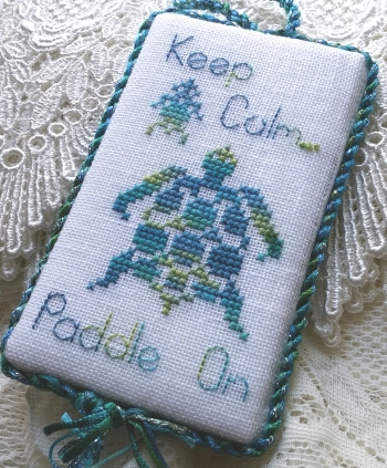 White Lyon Needleart Designs - Paddle On-White Lyon Needleart Designs - Paddle On, turtle, sea turtle, turtle love, cross stitch