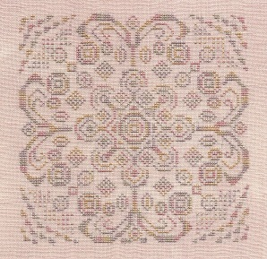 Freda's Fancy Stitching - Pastel Doodles-Fredas Fancy Stitching - Pastel Doodles - flowers, pink, purple, drawing, cross stitch