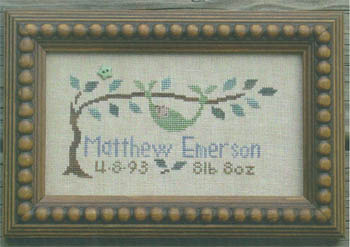 Bent Creek - Peapod Baby Sampler - Cross Stitch Chart-Bent, Creek, Peapod, Baby, Sampler, cross, stitch, chart