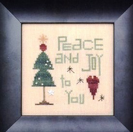 Heart in Hand Needleart - Peace and Joy Kit-Heart in Hand Needleart - Peace and Joy Kit, Christmas, Peace, love, Christmas tree, heart, cross stitch