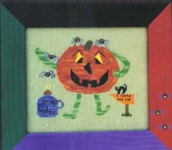 Poppy Kreations - Spider Cider-Poppy Kreations, Spider Cider, Halloween, fall, Pumpkin, apple cider, black cat, Spiders,- Cross Stitch Pattern