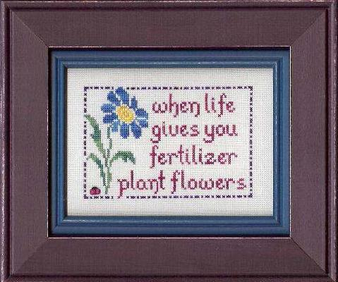 My Big Toe Designs - Plant Flowers - Cross Stitch Pattern