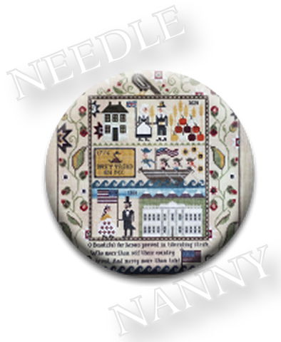 Stitch Dots - Heritage Sampler Needle Nanny by Plum Street Samplers-Stitch Dots - Heritage Sampler Needle Nanny by Plum Street Samplers, cross stitch, magnets, needles, gifts,