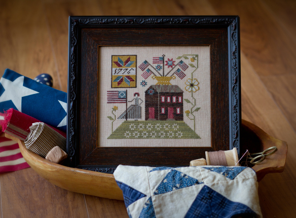 Plum Street Samplers - Betsy\'s House - Cross Stitch Pattern-Plum Street Samplers, Betsy's House, Betsy Ross, American Flag, 1775, Cross Stitch Pattern