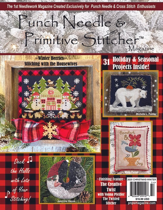Punch Needle & Primitive Stitcher Magazine 2020 - Issue 4 Christmas-Winter Mega-Punch Needle  Primitive Stitcher Magazine 2020 - Issue 4 Christmas-Winter Mega