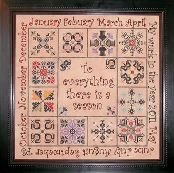 Praiseworthy Stitches - There is a Season - Cross Stitch Pattern
