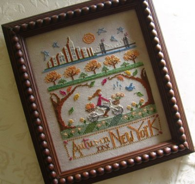 Primrose Needleworks - Autumn in New York - Cross Stitch Pattern