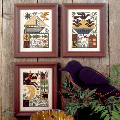 Prairie Schooler - A*B*C-Prairie Schooler - ABC, alphabet, sampler, country, cross stitch