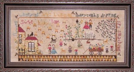 Praiseworthy Stitches - The Bee Keeper's Cottage  Cross Stitch Pattern